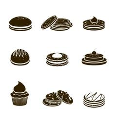 Cookies black set vector