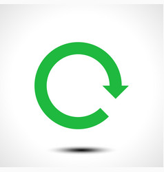 green arrow icon reload refresh rotation reset vector image