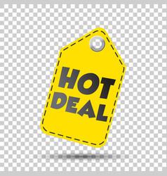 Hot deal yellow hang tag vector