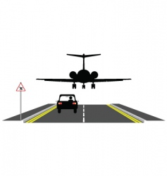 low aircraft vector image vector image