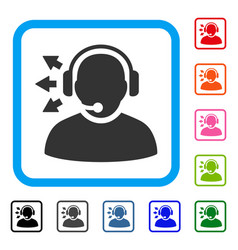 operator answer speech framed icon vector image