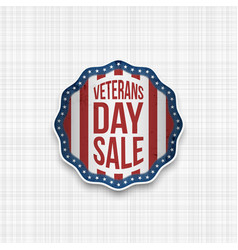 Veterans day sale realistic emblem vector