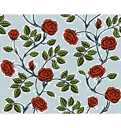 Vintage floral seamless pattern Classic hand drawn vector image vector image