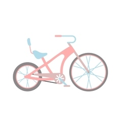 Womens pink bicycle isolated on white background vector image vector image