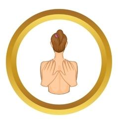 Back massage icon vector image