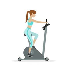 exercise bike vector image