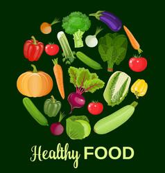 healthy vegetables and vegetarian food vector image