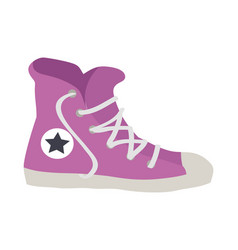 isolated violet sport footwear of vector image