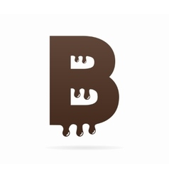 Letter B logo or symbol icon vector image vector image