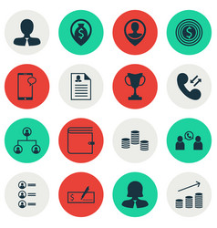 Set of 16 hr icons includes female application vector