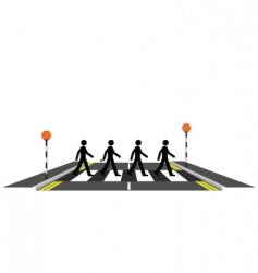 Zebra crossing vector image vector image