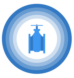 a minimalistic image of an abstract gate valve vector image
