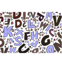 Abstract alphabets letters generative canvas word vector
