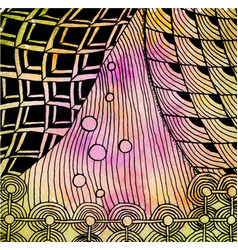 abstract drawing in the style of zenart vector image