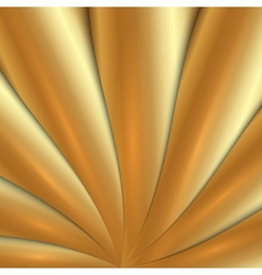 Abstract metal gold background with waves vector