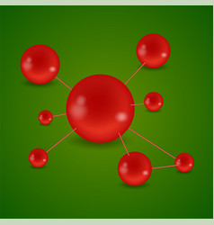 Background molecules and chemical formulas vector