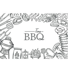 Barbecue poster template vector