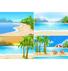 Beach scenes vector image