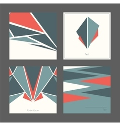 Beautiful collection of square cards based on vector image