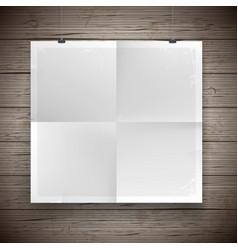 blank paper poster vintage background vector image
