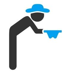 Boy Beggar Icon vector image