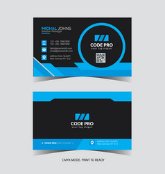 Business card image vector