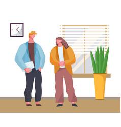 businessmen office workers co-workers cartoon vector image