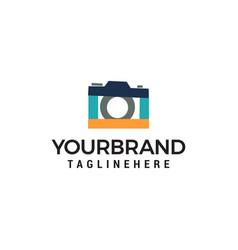 camera photo logo template icon design vector image
