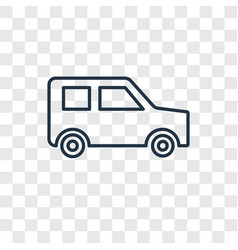car toy concept linear icon isolated on vector image
