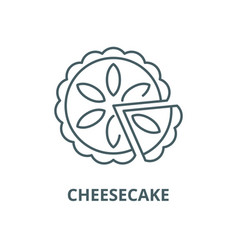 cheesecake line icon cheesecake outline vector image