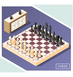 Chess isometric background vector