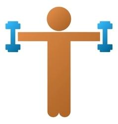 Child Fitness Gradient Icon vector image