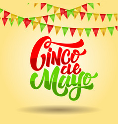 Cinco de mayo lettering phrase on background with vector