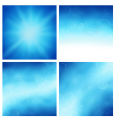 clear sky backgrounds vector image