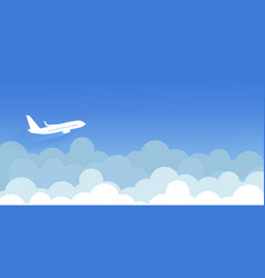 Cloud background with isolated planes vector