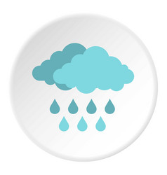 Cloud with rain icon circle vector