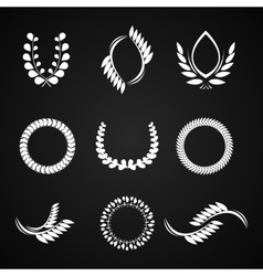 Collection laurel wreaths for award vector