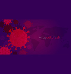 corona virus banner template covid-19 pandemic vector image