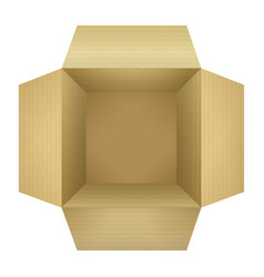 Corrugated cardboard box vector