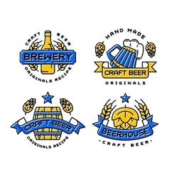 Craft beer bages set vector image