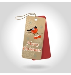 cute Merry Christmas gift tags with vector image