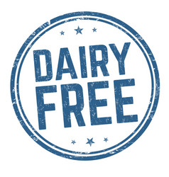 dairy free sign or stamp vector image