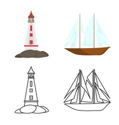 Design travel and attributes logo set vector