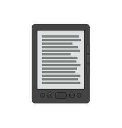 Ebook reader flat icon vector