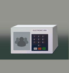 electronic urn vector image