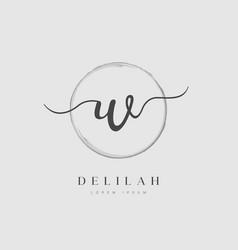 Elegant initial letter type w logo vector