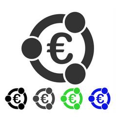 Euro collaboration flat icon vector