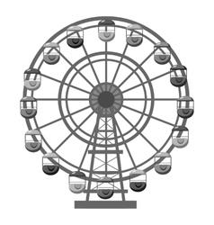 Ferris wheel icon gray monochrome style vector image