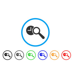 find time rounded icon vector image