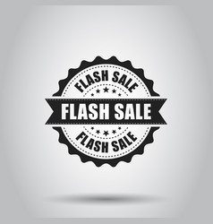 Flash sale grunge rubber stamp on white vector